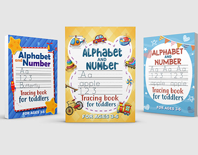 Alphabet & number tracing book for toddlers