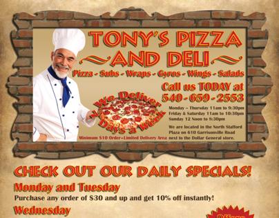 Pizza Restaurant Business Flyer Design