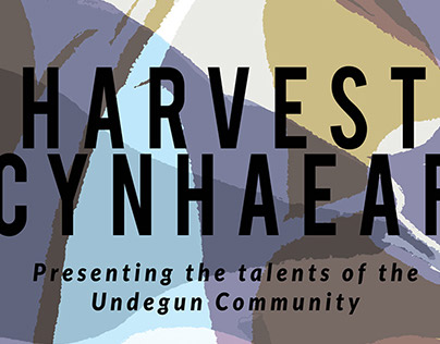 'Harvest' Art Exhibition poster at UNDEGUN