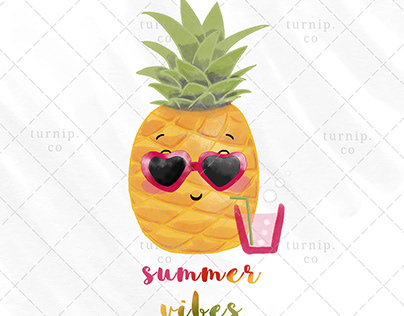 Summer Vibes Sublimation PNG Clip Art Designs