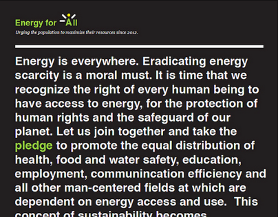 Energy For All, UM Competition