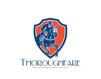 Thoroughfare Horse Breeding Logo