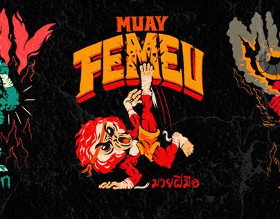 Muay Thai illustrations and logos.