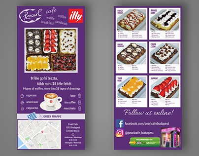 Flyer design for Pearl Cafe Budapest