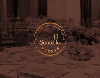 Samella Events Logo and Brand Identity