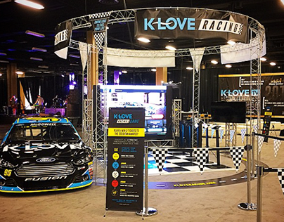 K-LOVE Racing & myKLOVE booths at K-LOVE Fan Awards