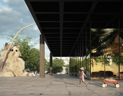Neue Nationalgalerie, Berlin - CGI