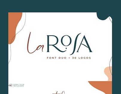 La Rosa Font Duo//Chic Logos