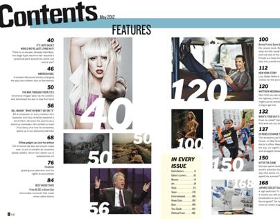 Magazine spreads