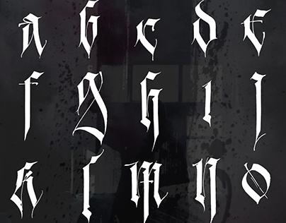 Contemporary Gothic Alphabet