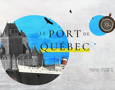 Port de Québec - La Canne à Pommeau d'Or