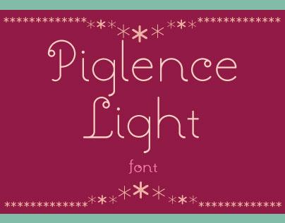 Piglence Light Font