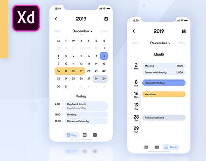 Calendar App (UI)