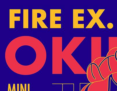 Fire Ex. Okinawa Mini Tour 滅火器沖繩巡迴 Visual Design