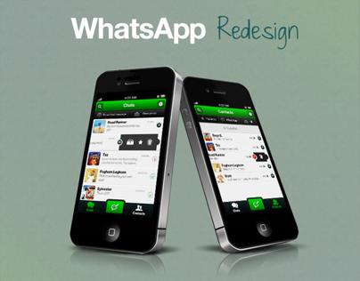 WhatsApp redesign (iPhone)