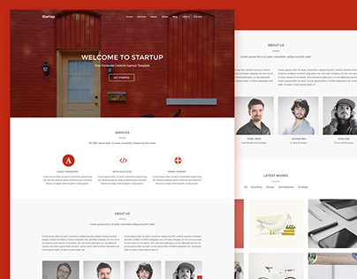 Startup Free Creative Agency PSD Template