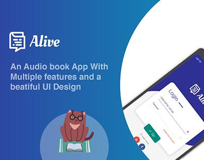 Alive Audio Book App Design Concept