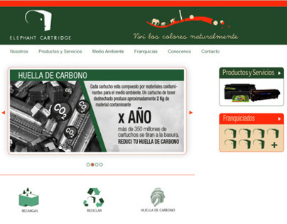 Elephant Cartridge - Web Design