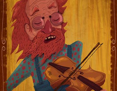 ♛ Old Man Playing Violin ♛
