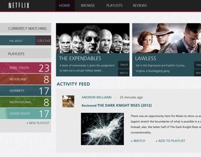 Netflix Rebrand : Website
