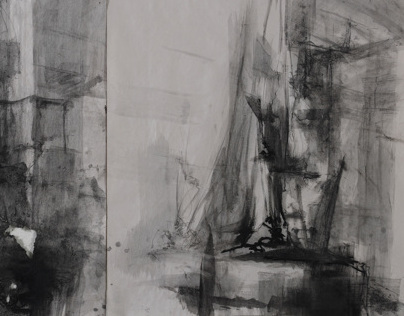 Figure drawing on wet