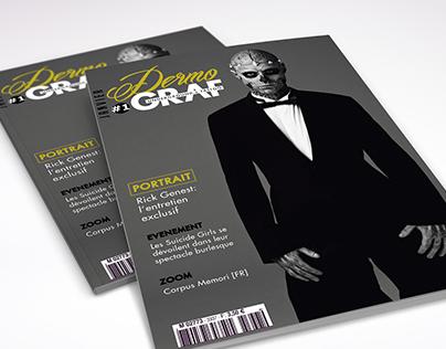 Magazine fictif portant sur le tatouage : Dermo GRAF