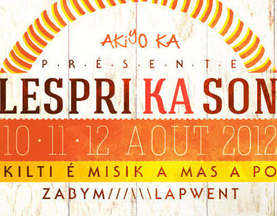 Lespri ka son festival identity