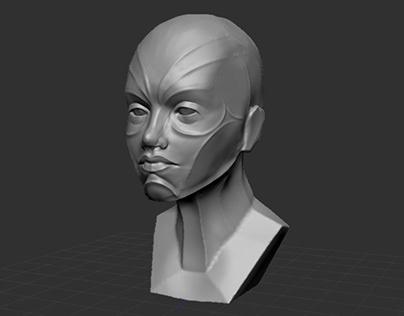 WOP - Zbrush female sculpt
