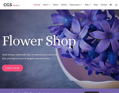 Florist Website template