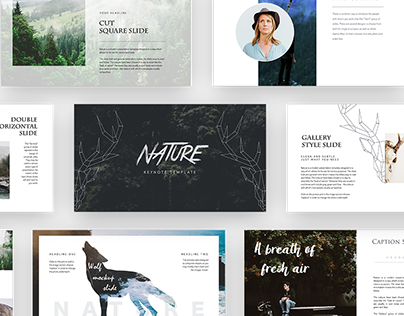 Nature Keynote Presentation template