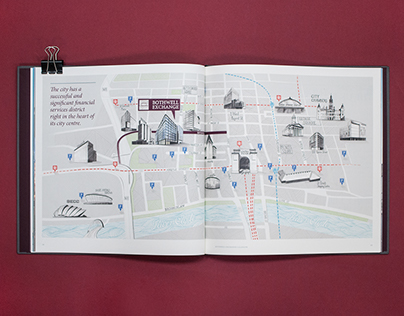 Illustrated Glasgow map