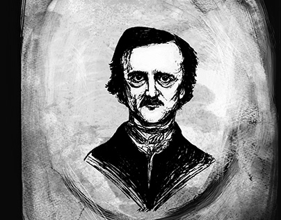 Edgar Poe, Franz Kafka, Artur Shopengauer portraits
