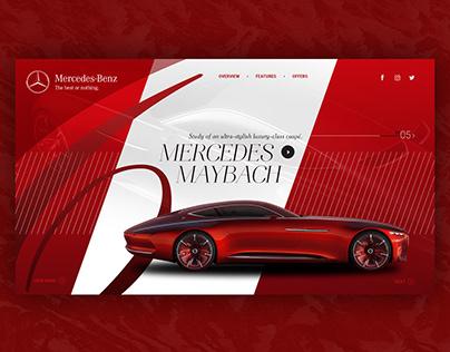 Mercedes-Maybach 6 - Website design.