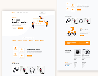 product website/landing page