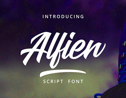 Alfien - Script Font