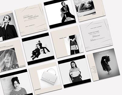 Minimalist Exquisite Fashion Instagram Templates