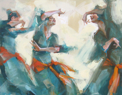 Original figurative painting by Renata Domagalska.