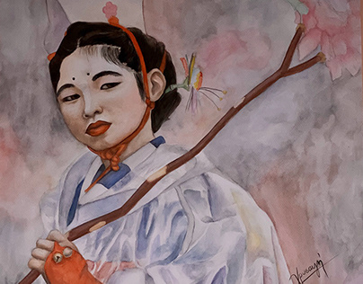 Portrait of a Japanese girl