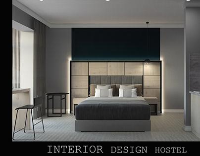 Hostel design . Interior Design