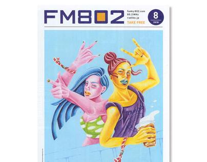 cover illustration for free magazine
