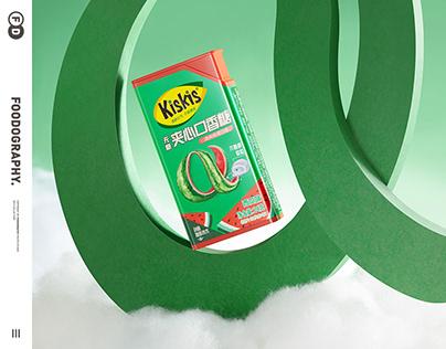 电商摄影 | kiskis口香糖chewing gum ✖ foodography