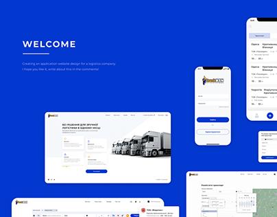 Truckman (Dashboard, web site, mobile application)