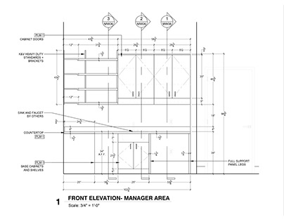 Architectural Millwork CAD Shop Drawing Service