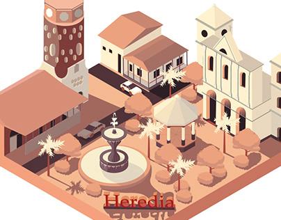 3D Illustration Costa Rica, Heredia