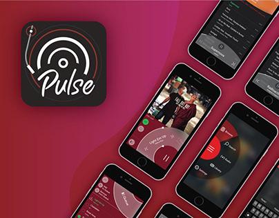 Pulse Music Player App UI UX
