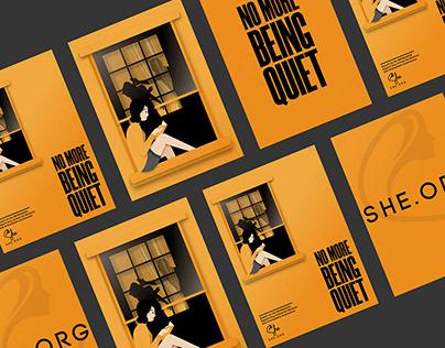 No More Being Quiet | Minimal Poster | Women Safety