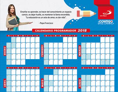 Calendario y Planeador San Pablo 2018