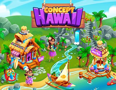 Hawaii - Casual Mobile Game Art