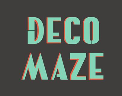 Deco Maze Typography