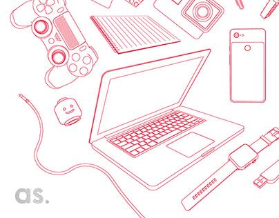 Designer's tools - Illustration